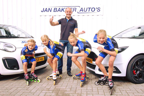 Skeelerteam Jan Bakker Auto's